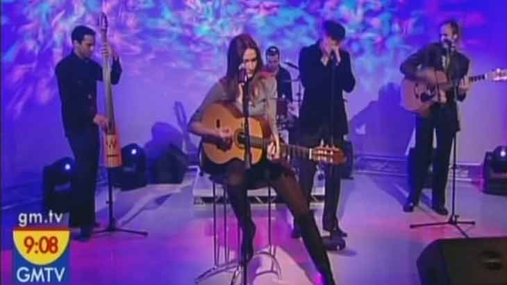 Morning TV show with (the amazing) Carla Bruni