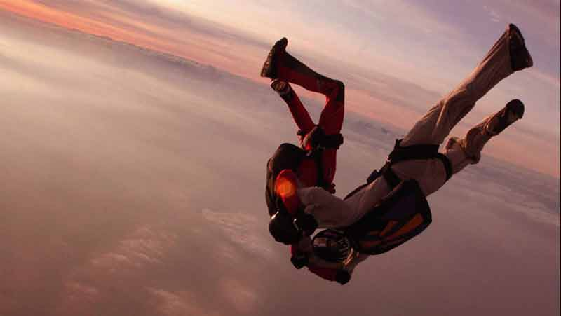 Probably my coolest boast... I was big into skydiving :) here in the red.